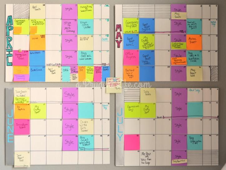 Diy Editorial Calendar : Organize your editorial wall calendar polished habitat